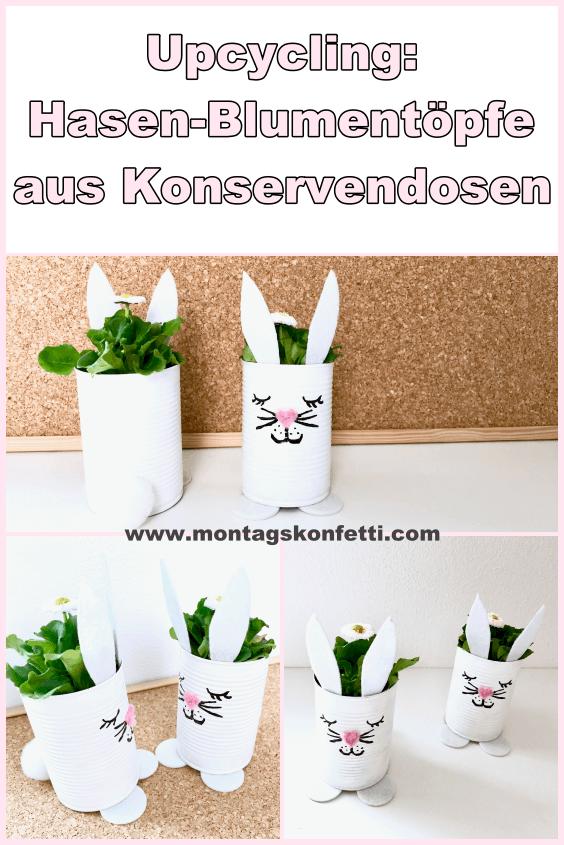 Hasen-Blumentopf Pinterest