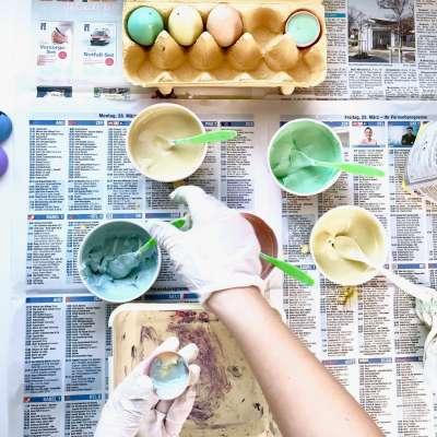 Regenbogen Straßenmalkreide Eier10