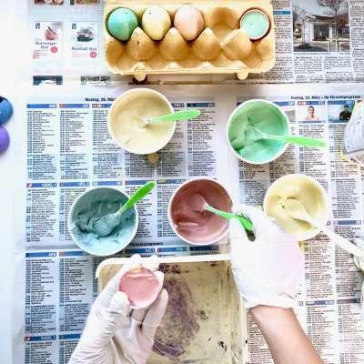 Regenbogen Straßenmalkreide Eier11
