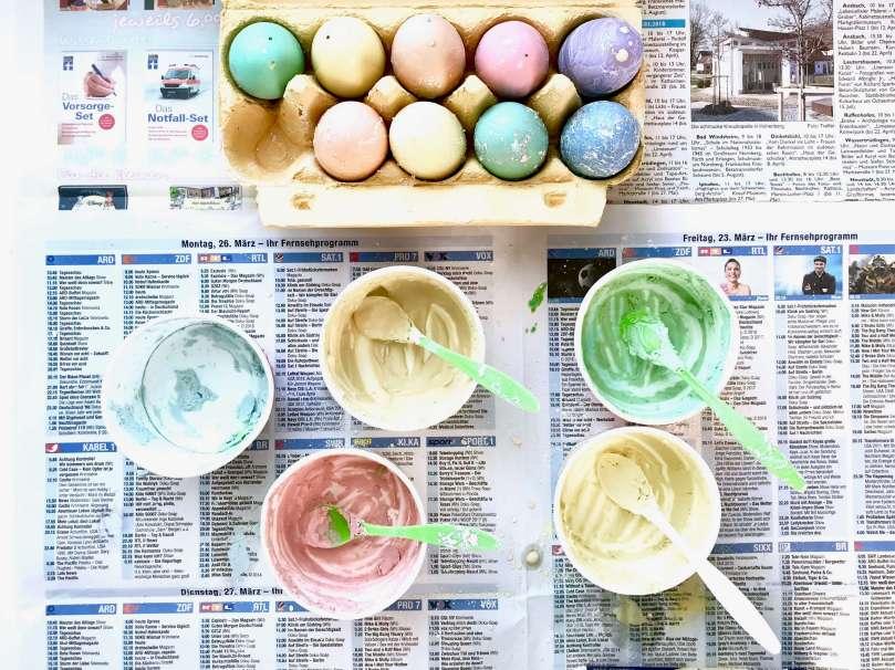 Regenbogen Straßenmalkreide Eier13