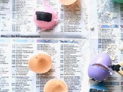 Regenbogen Straßenmalkreide Eier15