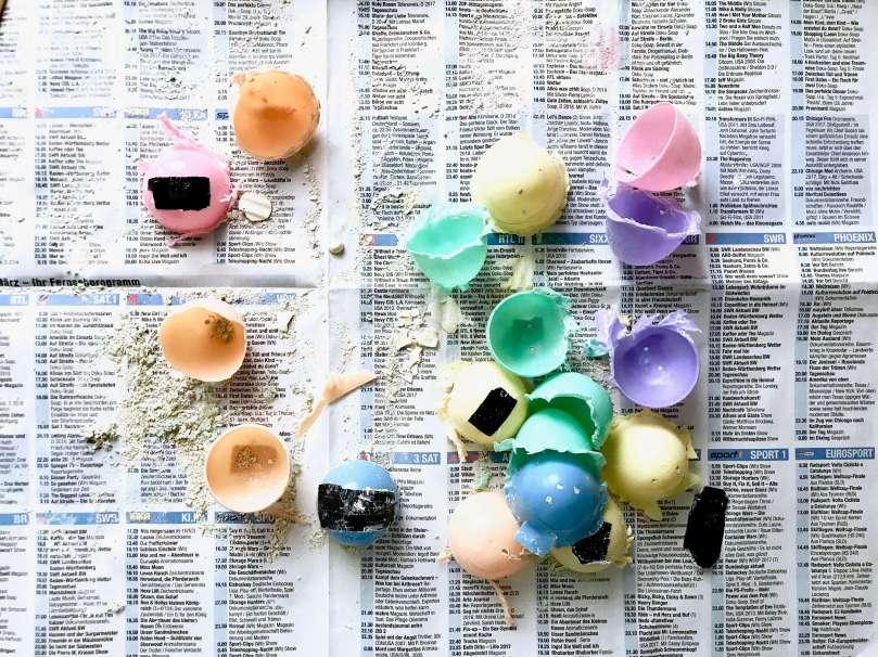 Regenbogen Straßenmalkreide Eier16