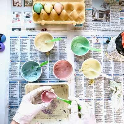 Regenbogen Straßenmalkreide Eier6