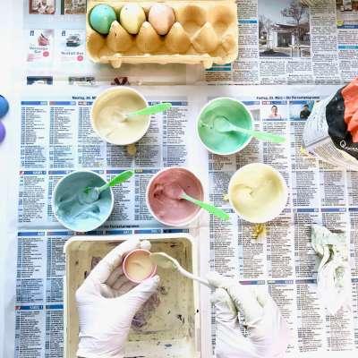 Regenbogen Straßenmalkreide Eier7