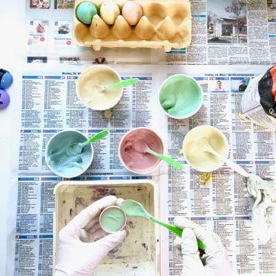 Regenbogen Straßenmalkreide Eier8