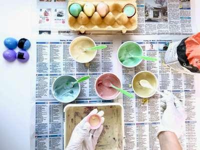 Regenbogen Straßenmalkreide Eier9