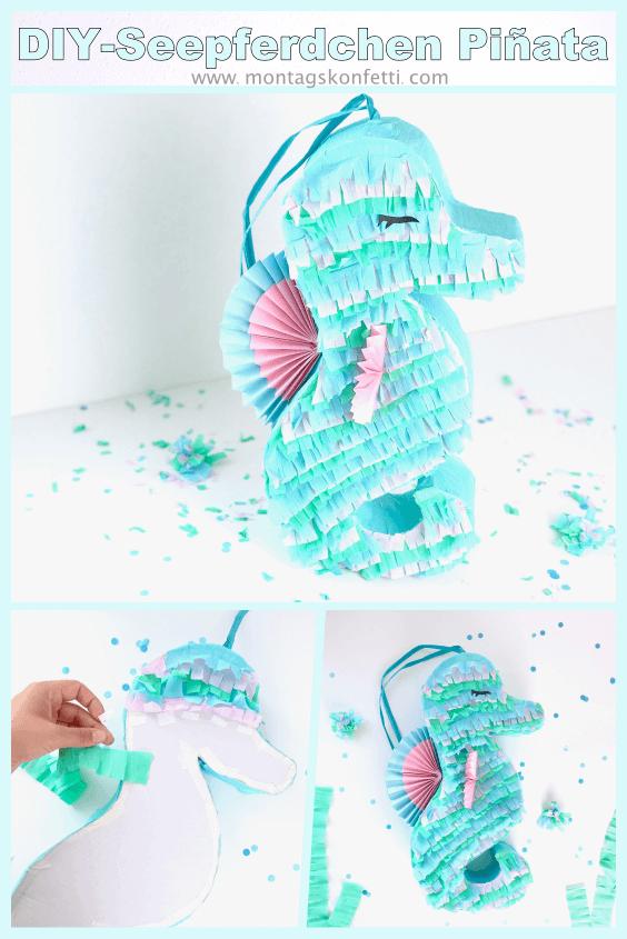 DIY Seepferdchen Piñata Pinterest