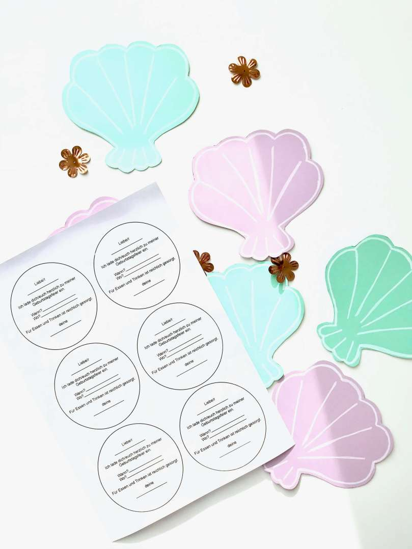 Einladungskarten Meerjungfrauengeburtstag10