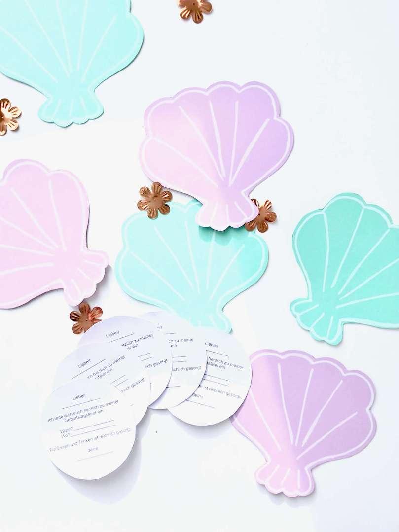 Einladungskarten Meerjungfrauengeburtstag11