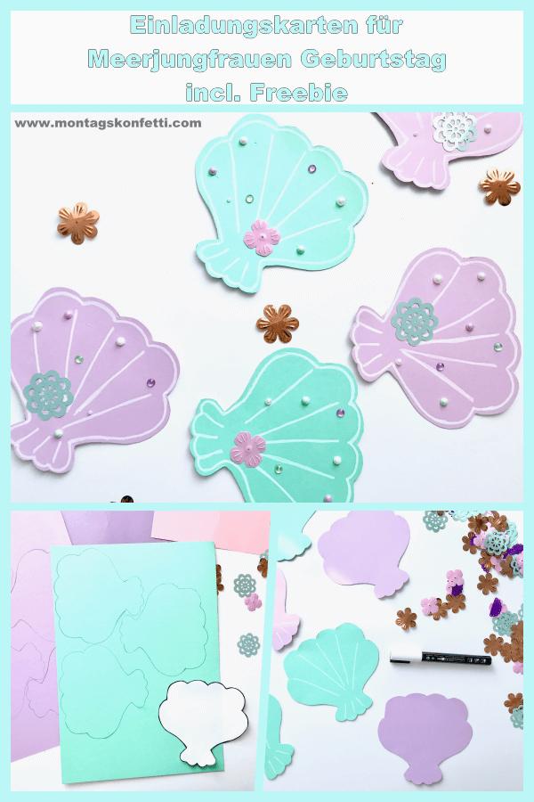 Einladungskarten Meerjungfrauengeburtstag2