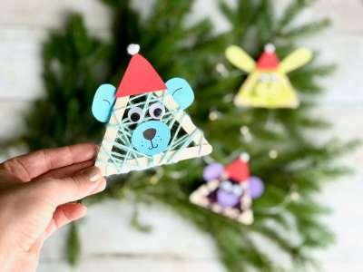 Lustige Weihnachtstierchen aus Holzstäbchen1