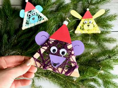 Lustige Weihnachtstierchen aus Holzstäbchen2