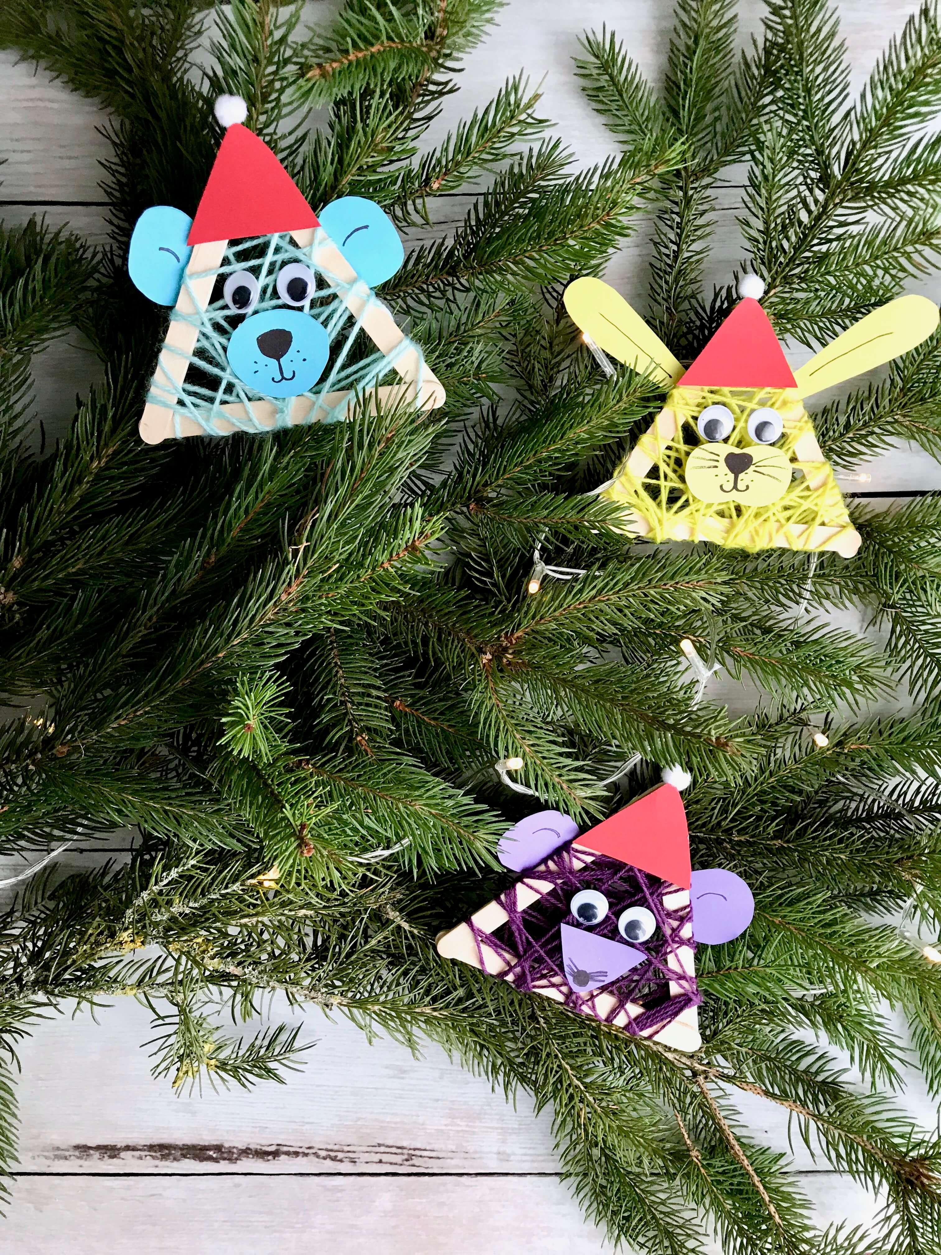 Lustige Weihnachtstierchen aus Holzstäbchen3
